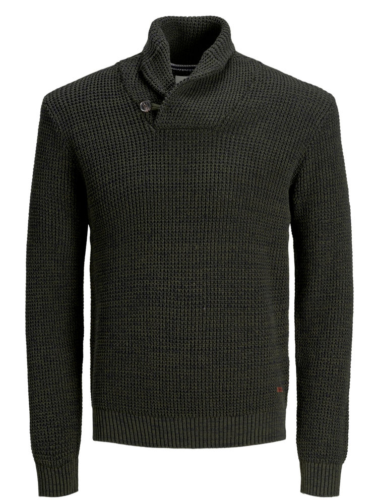 Vincent Shawl Neck Knit, Forest Night