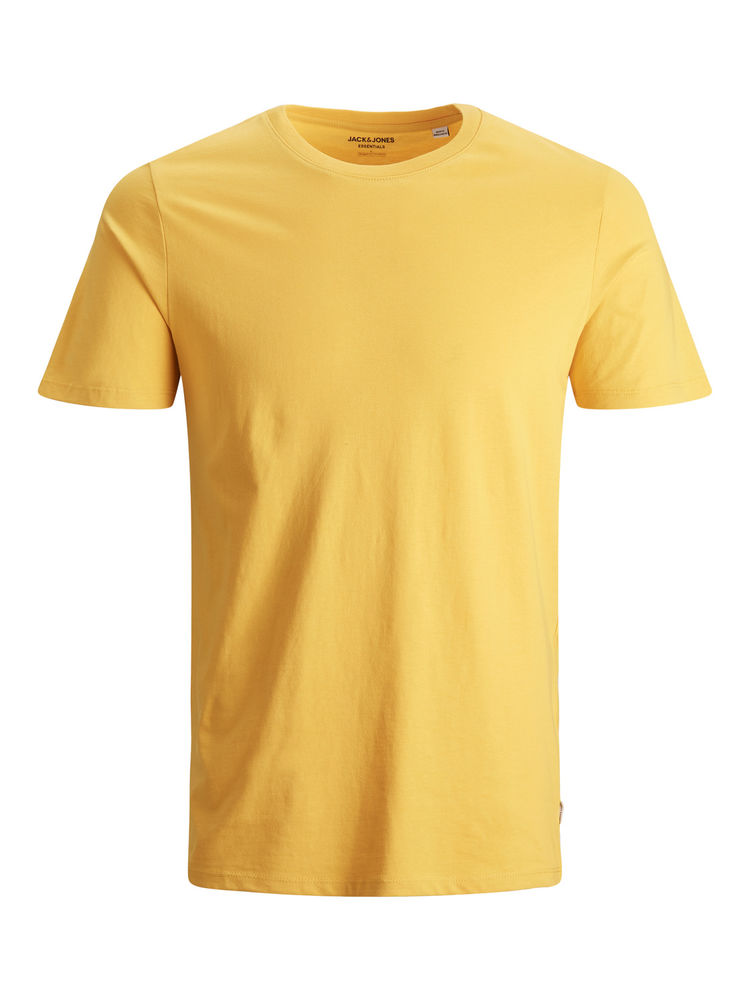 Organic Basic Tee O-neck, Spicy Mustard