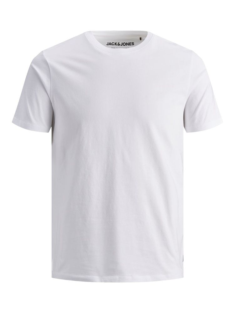 Organic Basic Tee O-neck, White