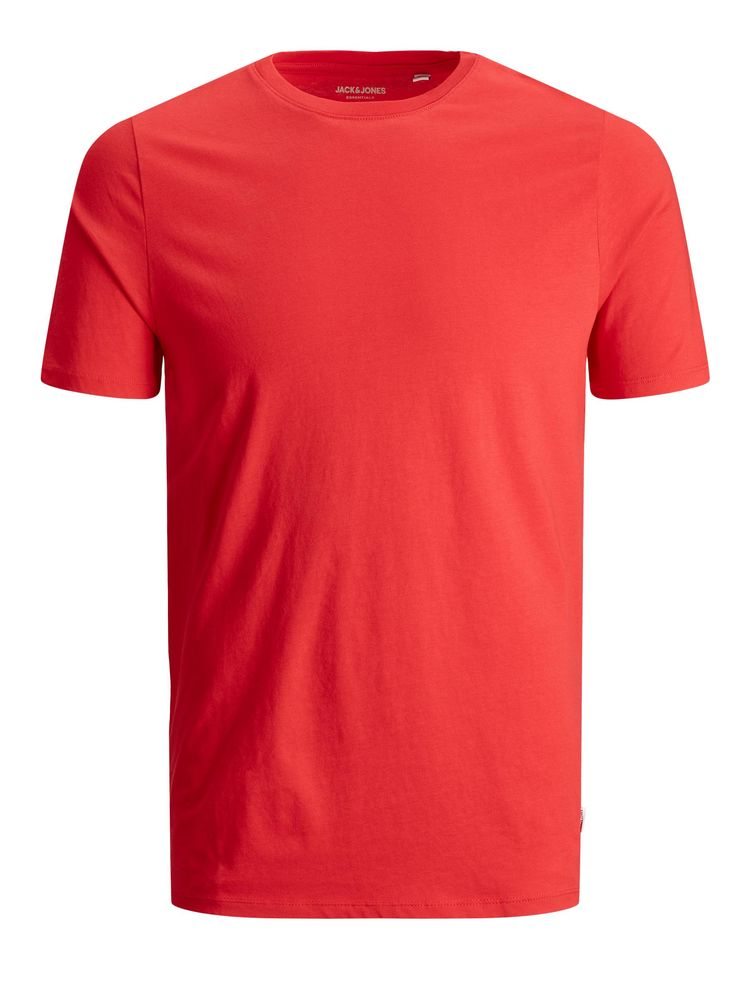 Organic Basic Tee O-neck, True Red