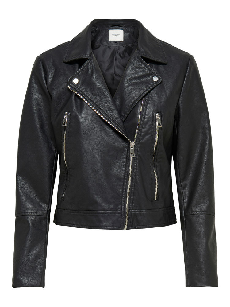 Ilde Short Faux Leather Jacket