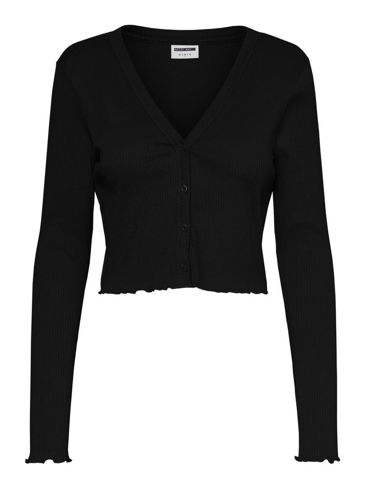 Darkey Cropped Cardigan, Black