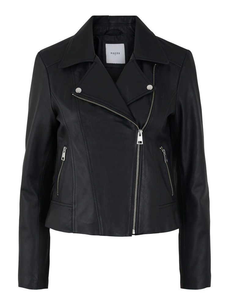Susse Leather Jacket, Black