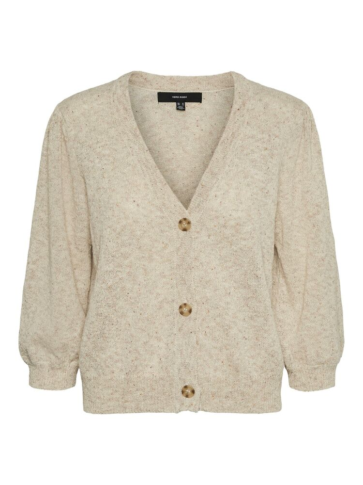 Annie 2/4 V-neck Cardigan, Birch