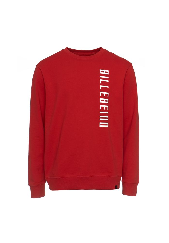 Side Print Sweatshirt, Red