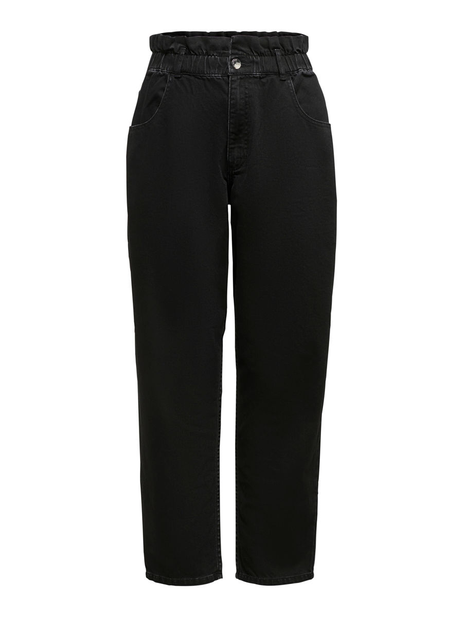 Ova Life High Waist Carrot Jeans, Black