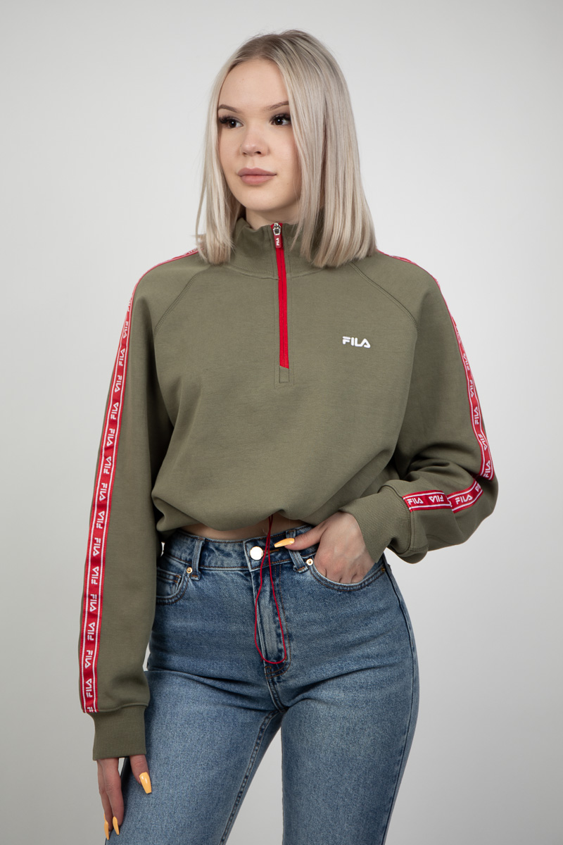Ura Half Zip Sweater Deep Lichen