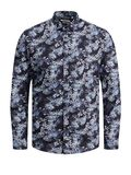 Graduation Print Shirt, Navy Blazer
