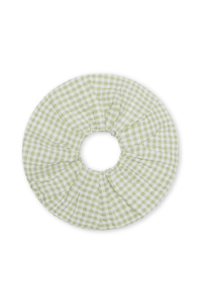 Endaphne Scrunchie, Green Check
