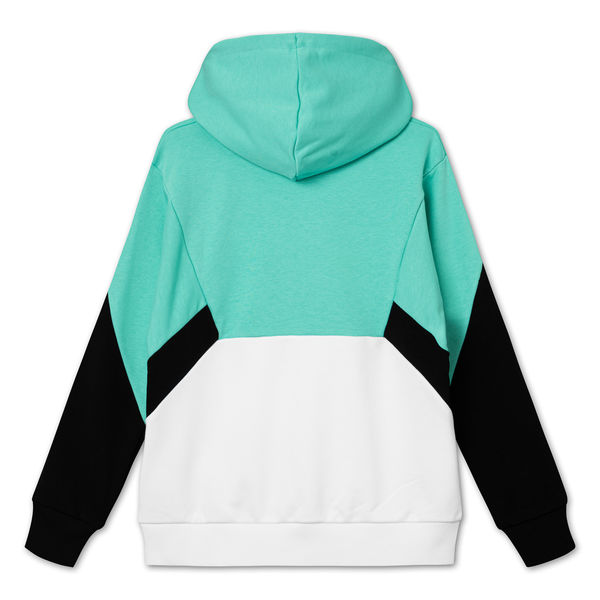 Women Amya Cropped Hoody, Green-Bright White-Black