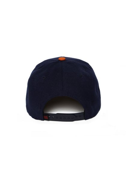 Brick Cap Navy Orange