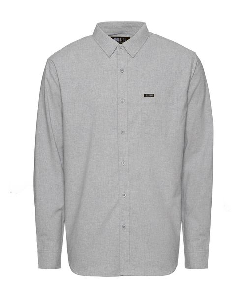 Collar Shirt, Grey Melange