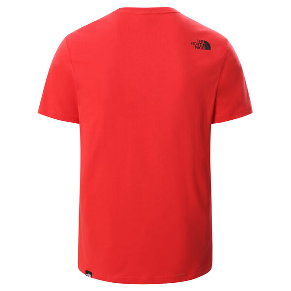 Men S/S Fine Tee, Horizon Red