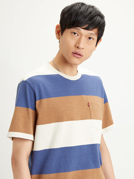 Sunset Pocket Tee '20, Rugby Stripes
