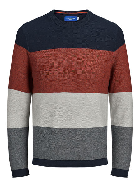 Flame Knit Crew Neck