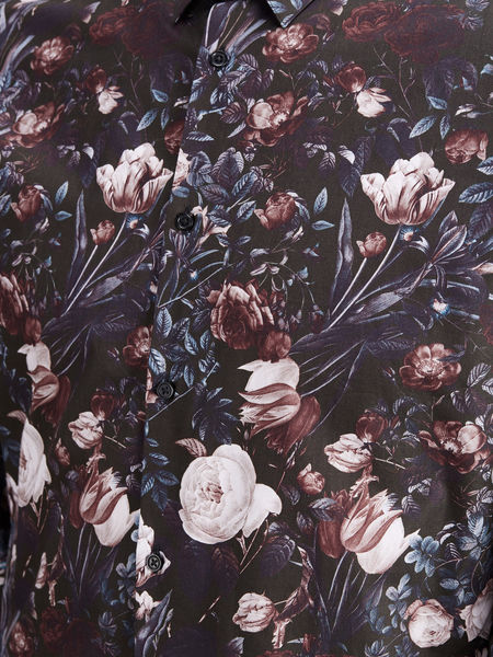Vincent Flower Shirt, Vineyard Wine