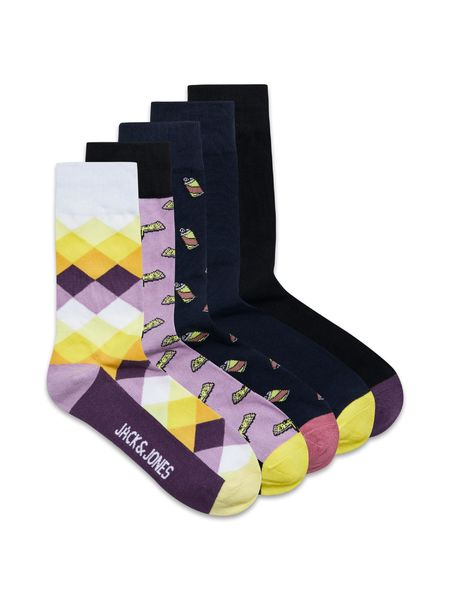 Purple Socks 5-Pack, Tap Shoe