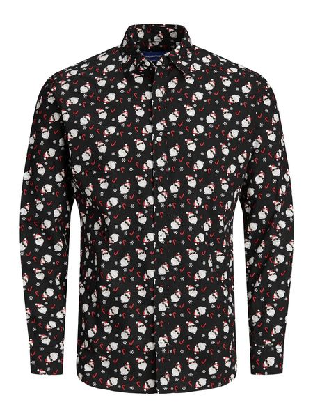 Snow Joy Shirt, Black AOP
