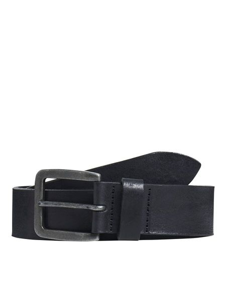 Victor Leather Belt, Black