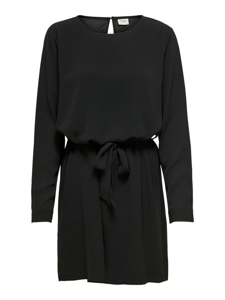 Amanda Belt Dress, Black