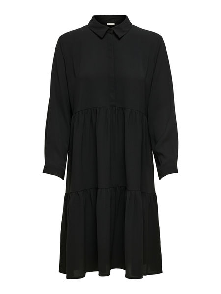 Piper 7/8 Shirt Dress, Black