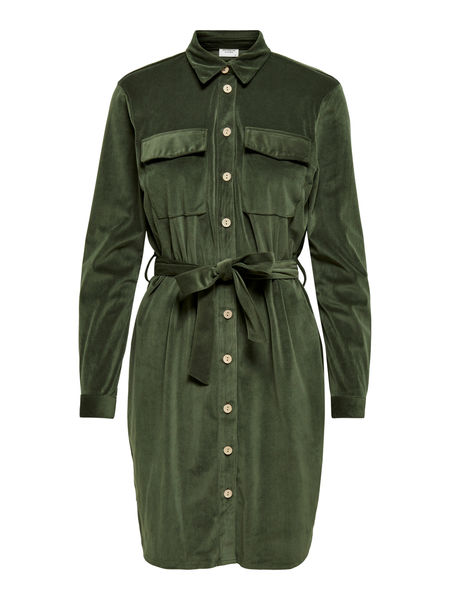 Sofi Corduroy Shirt Dress, Forest Night