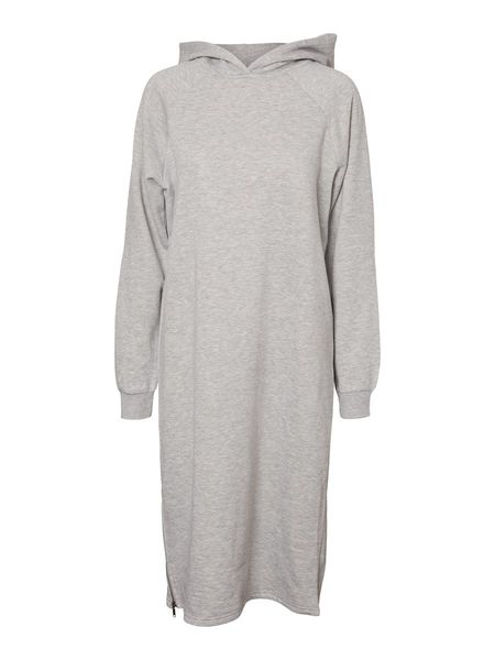 Helene Sweat Dress, Light Grey Melange