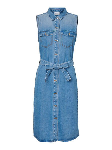 Mina S/L Button Denim Dress
