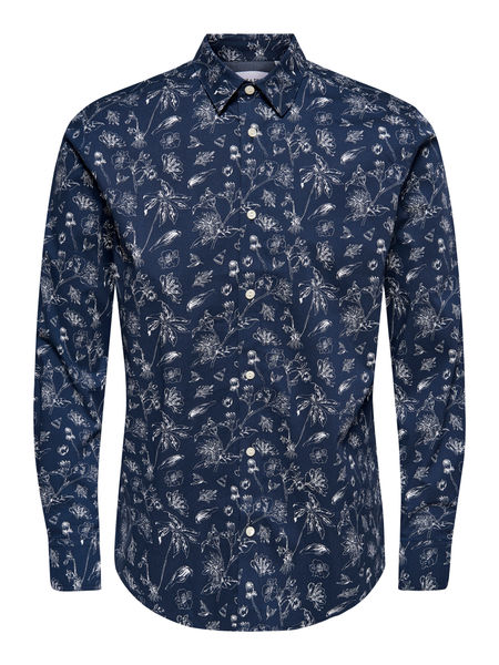 Hogan ls Printed Stretch Shirt