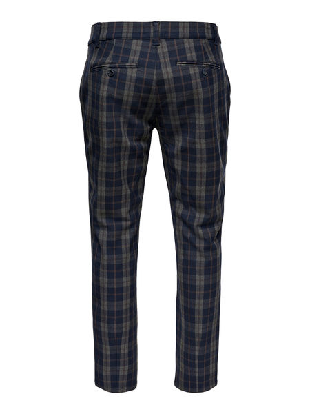 Mark Pant Check, Dark Navy