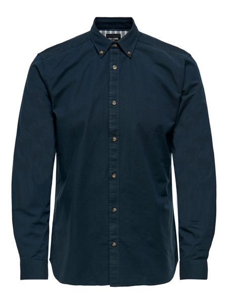 Blake Stretch Oxford Shirt, Dark Navy