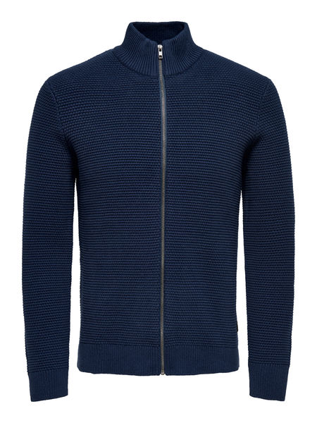 Daniel 5 Structure Zip Cardigan, Dress Blues