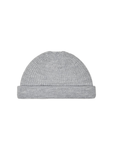 Short Beanie, Medium Grey