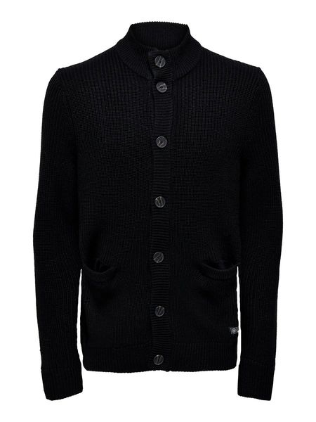 Sato 7 Knit Cardigan, Black