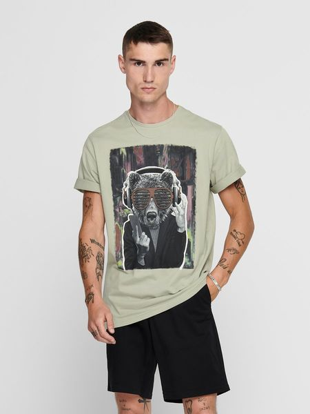 Funno Regular Tee, Seagrass