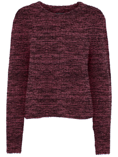 Fiona L/S Pullover Knit, Windsor Wine