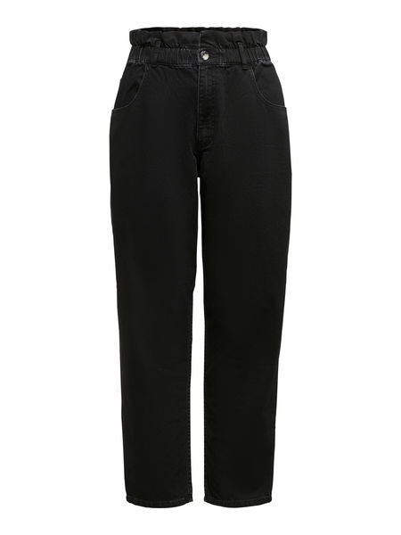 Nova Life High Waist Carrot Jeans, Black