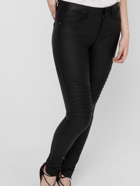 New Royal Regular Biker Coated Pant, Black