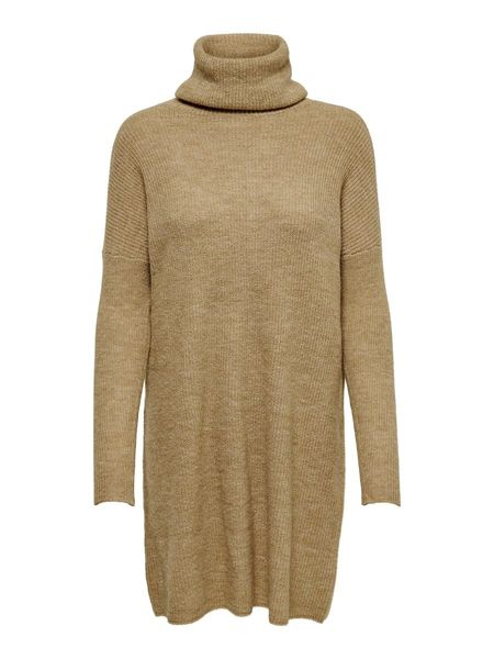 Jana Cowlneck L/S Dress, Indian Tan