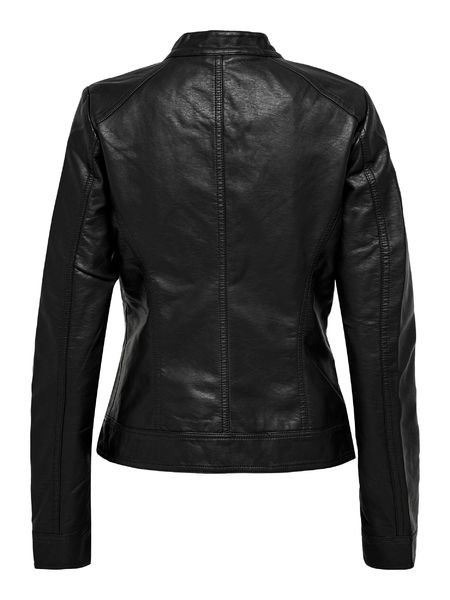 Bandit Faux Leather Biker, Black