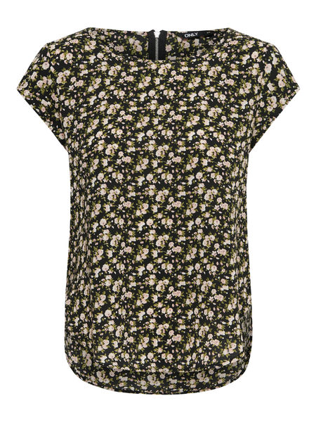 Vic Aop Top, Black Sarah