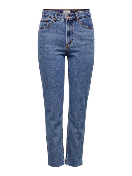 Emily Life High Waist Raw Ankle Jeans