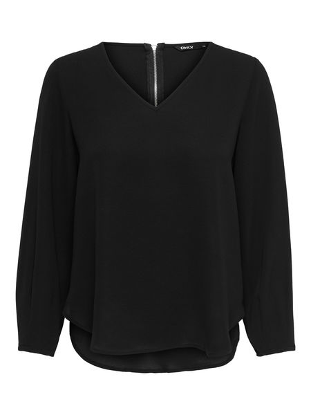 Vic Solid V-neck, Black