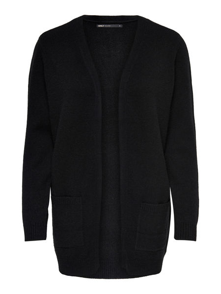 Lesley L/S Open Cardigan, Black