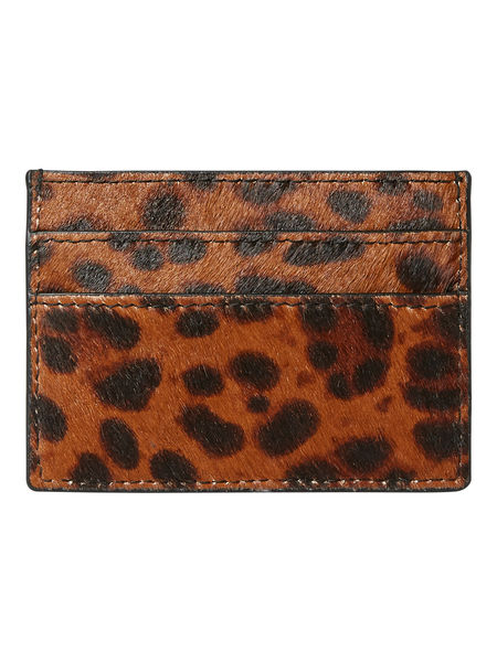 Naina Leather Card Holder, Cognac