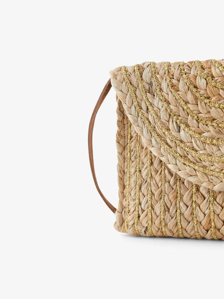 Mecky Straw Cross Body, Nature