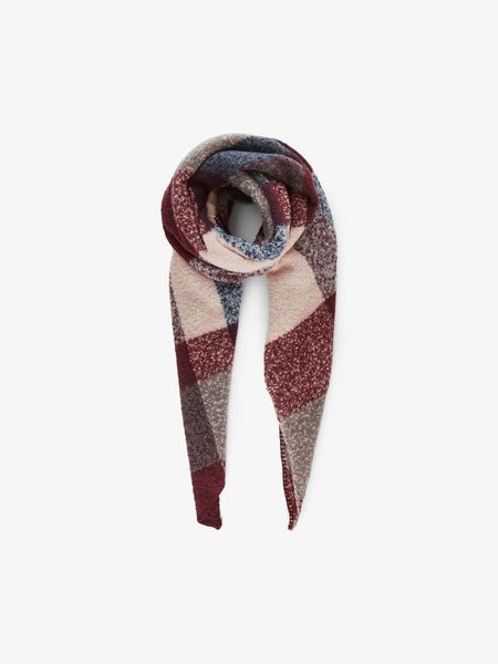 Pyron Checked Long Scarf, Port Royal