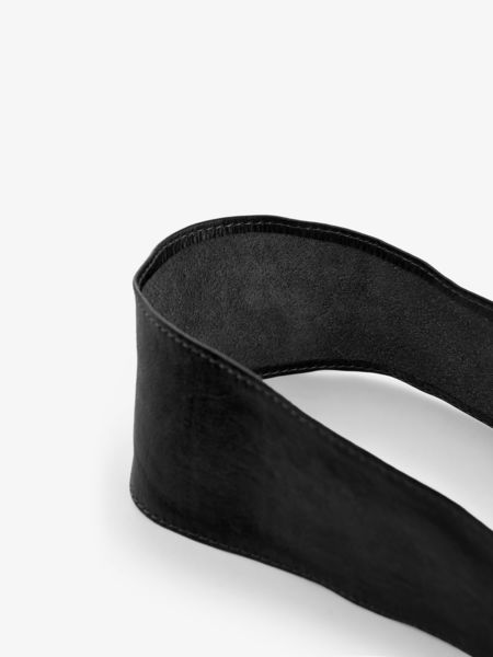Vibs Leather Waist Belt, Black