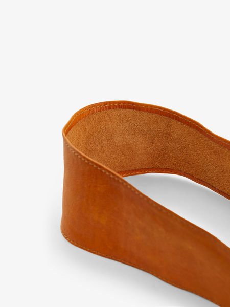 Vibs Leather Waist Belt, Cognac