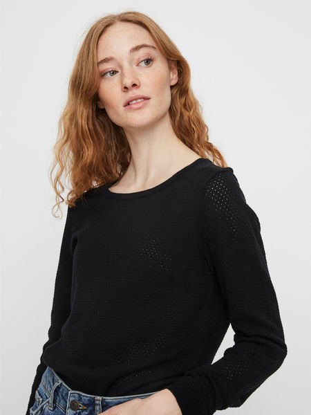 Minnie Care LS/ O-neck Blouse